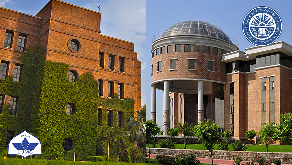 NUST & LUMS ranked in the list of Top 100 Universities of Asia