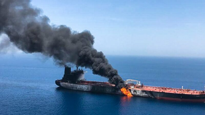 Owner of tanker attacked in Gulf of Oman blames 'flying objects'