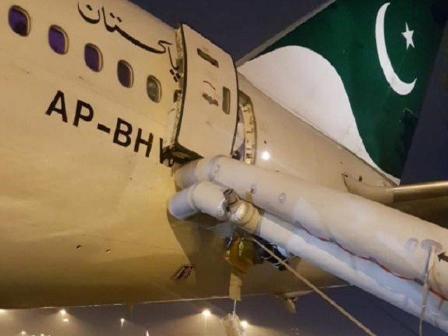 PIA flight's emergency slide activated at Beijing airport