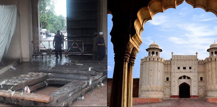 Heavy rain causes damage to historical Lahore Fort