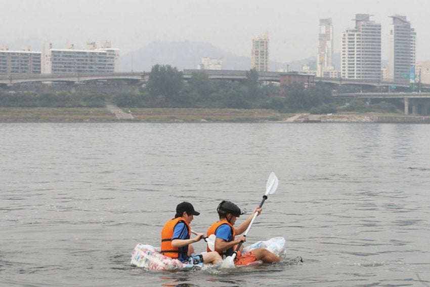 Did you know? In 2014 Korean students made a raft out of potato chips