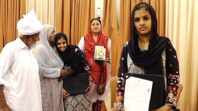 Daughter of truck driver from Chakwal scores highest marks in 173 years