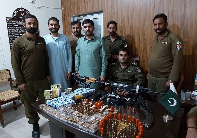 Huge cache of arms seized, two suspects arrested in Rawalpindi raid