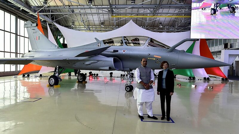 India receives first Rafale fighter jet from France