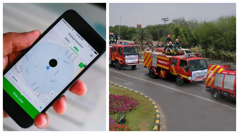 App to call Rescue 1122 fire brigade and ambulance in KPK