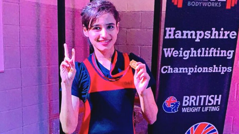 Rabia beat eight other weightlifters in the competition