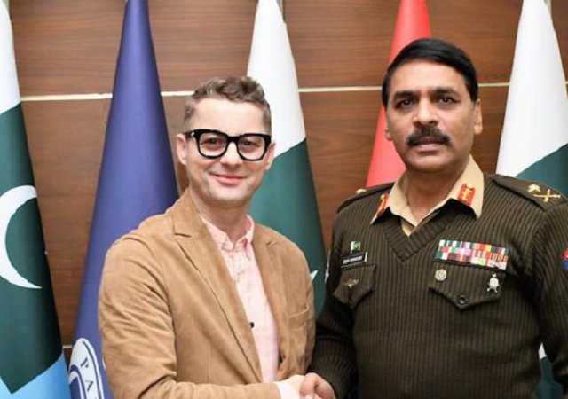 Akcent served with 'fantastic tea' by DG ISPR
