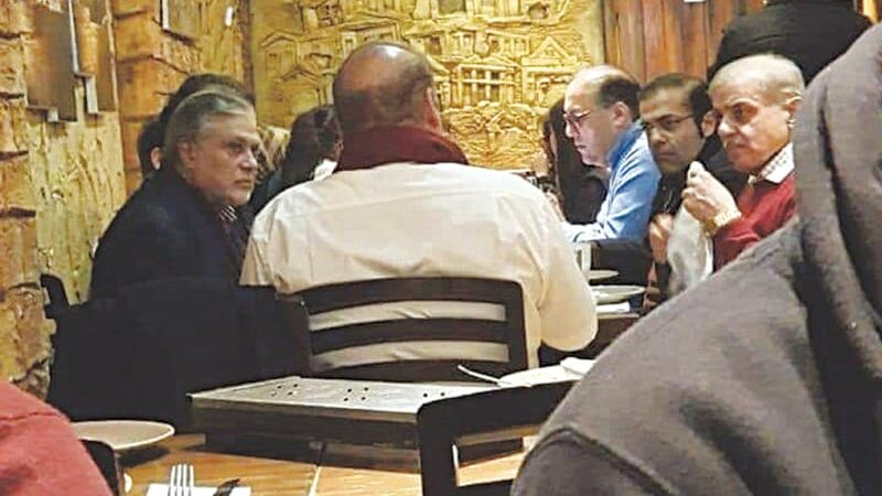 Nawaz's cafe photo makes PTI skeptical about seriousness of ex-PM's health