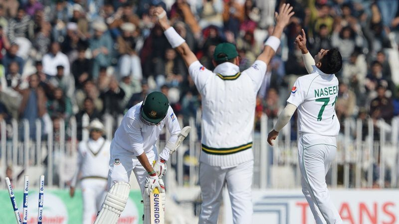 Naseem Shah becomes the youngest bowler to take a test hat-trick
