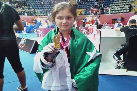 Swat girl wins gold in Dubai Taekwondo championship