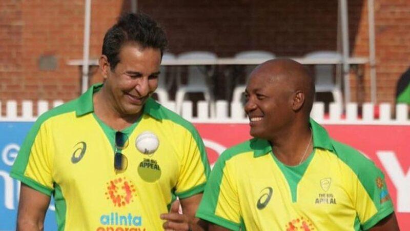 Wasim Akram turns back the clock in bushfire relief match