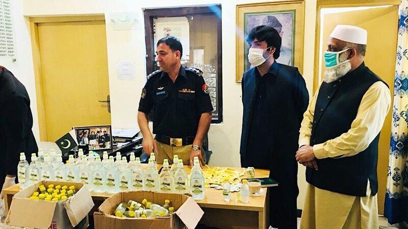 600 fake sanitiser bottles seized at Peshawar