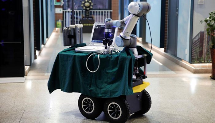 Robot designed in China could help save lives on medical frontline