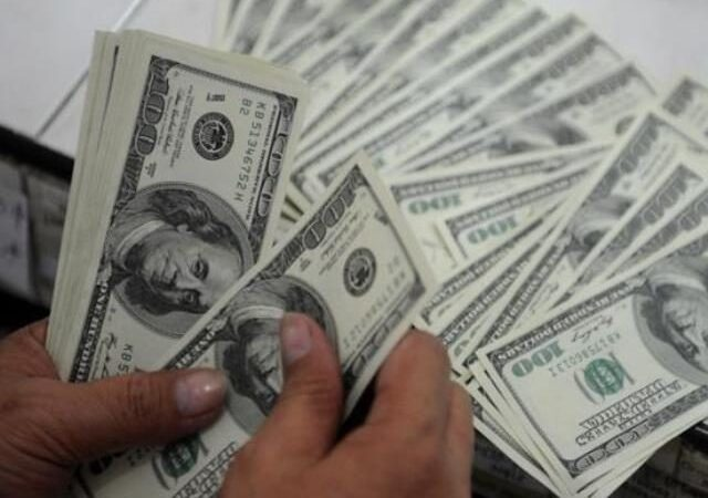 Dollar touches eight-month high against rupee