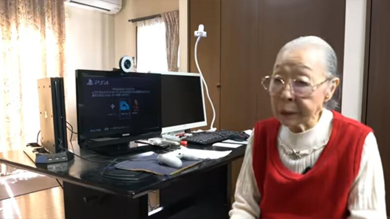 This 90-year-old Japanese woman runs a YouTube gaming channel