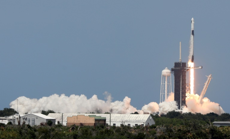 NASA astronauts head for ISS on historic SpaceX flight