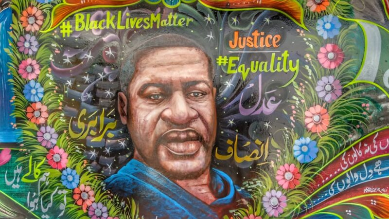 Pakistani truck artist raises voice against racism with a George Floyd mural