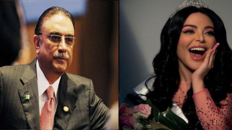 Founder of Huda beauty receives mango crates from Zardari