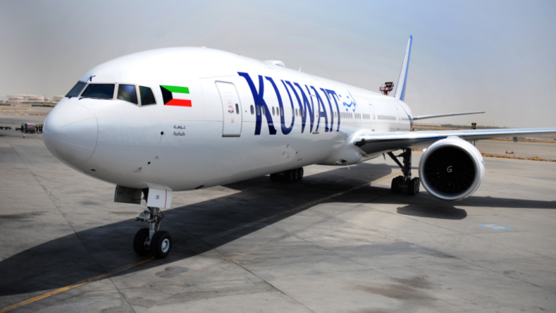 grounded by Kuwait Airways