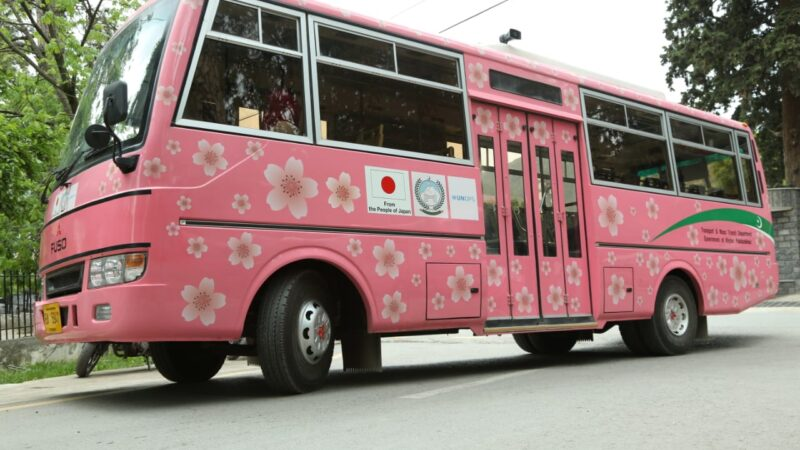 Pink Bus service to facilitate women in KP reportedly shut down