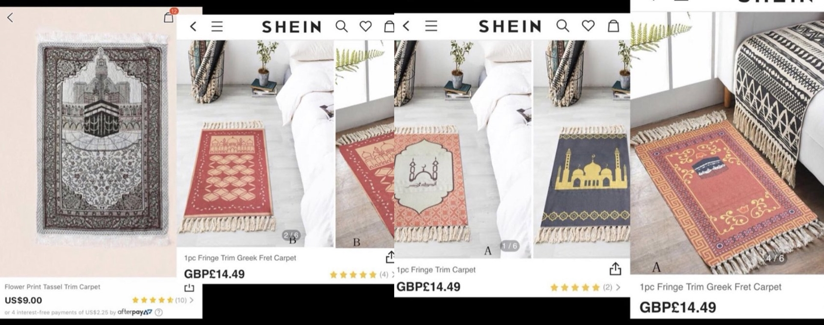 Chinese brand SHEIN under fire for selling prayer mats as casual carpets