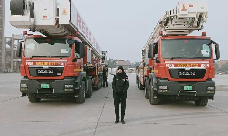 Pakistan's first woman firefighter makes her mark in an unconventional field for women in country
