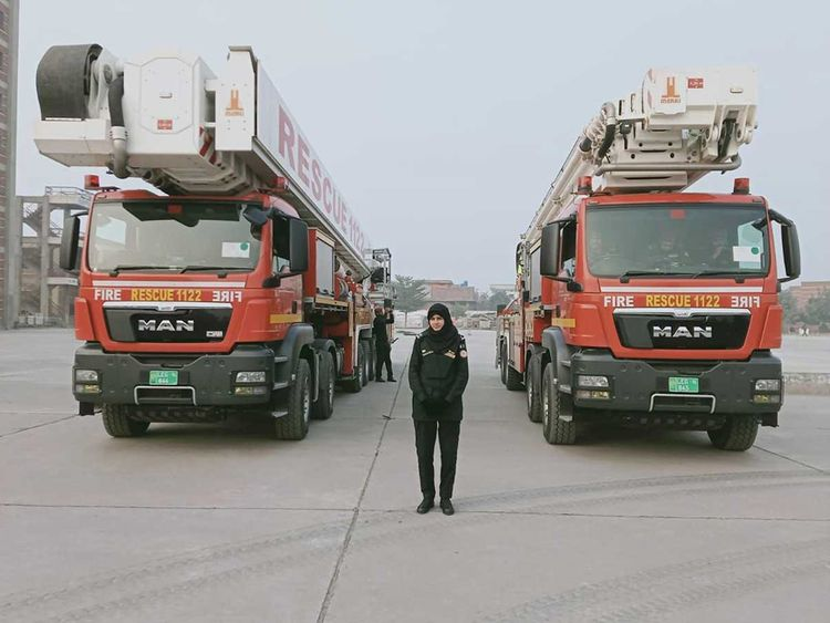 Pakistan's first woman firefighter makes her mark in an unconventional field