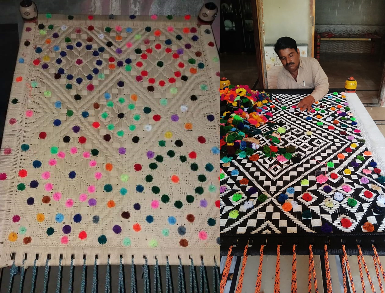 School teacher's woven charpoys gain fame on social media but no national support