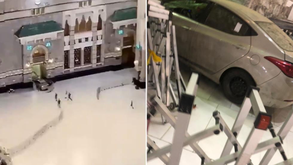 Saudi man in unnatural state rams car into gate of Makkah's grand  mosque