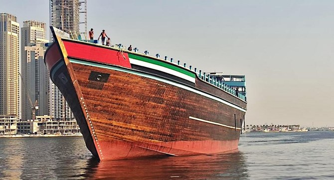 Fulfilling a father's dream: Emirati man ready to set sail for Karachi in world's largest dhow