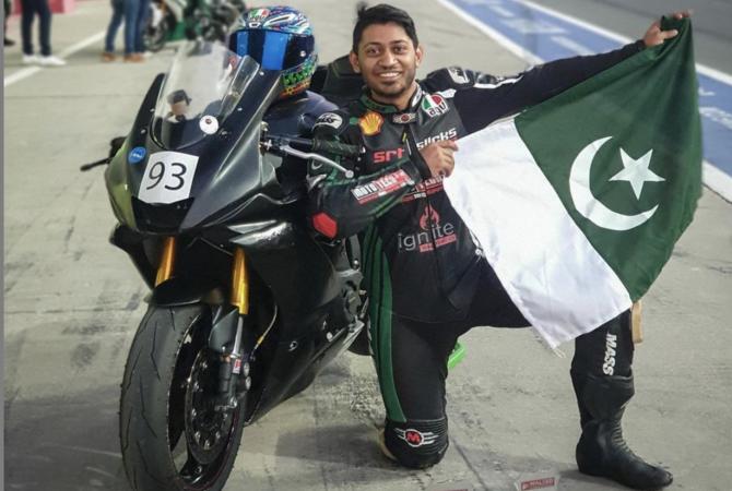 First Pakistani now holds a Fédération Internationale de Motocyclisme (FIM) racing license