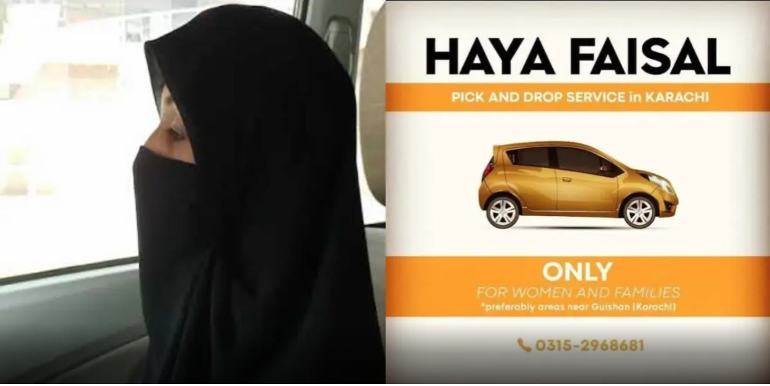 Haya Faisal, cab driver from Karachi motivates the country with her resolute courage