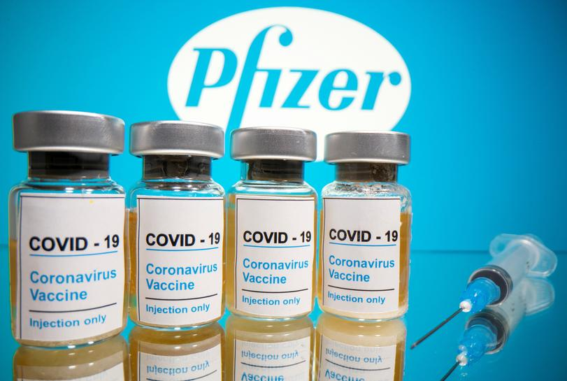 Pfizer announced positive early results from its coronavirus vaccine trial