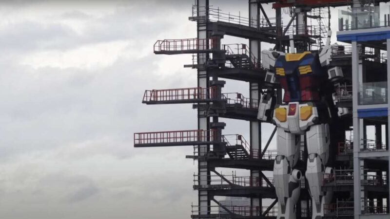 60-foot Gundam Robot in Japan has now entered testing mode