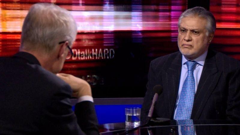 Hardtalk host, Stephen Sackur, says enjoyed 'intense conversation' with Ishaq Dar