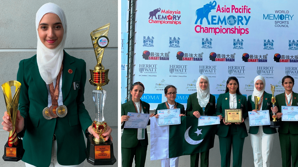 Young Pakistani girl breaks multiple records, wins World Memory Championship