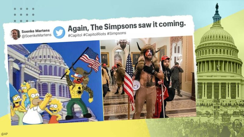 'The Simpsons' apparently predicted the Capitol Hill riots in 1996
