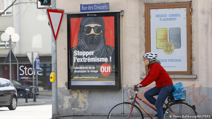 Switzerland to follow Austria and France's ban on burqa and niqab in public places