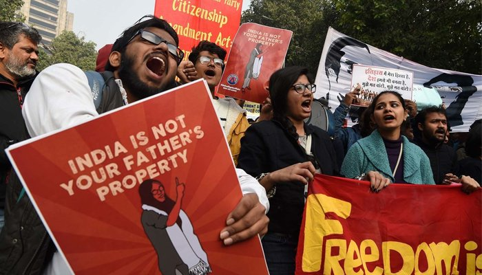 "US think tank downgrades India's status to ""partly free"" from ""free"" country"