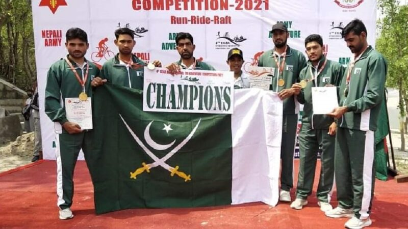 Pakistan Army wins gold medal at International Competition held in Nepal