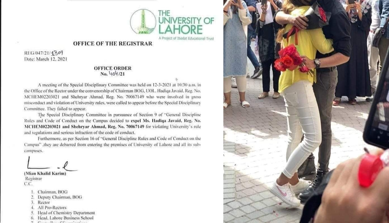 University of Lahore expels students after viral video of a public proposal and PDA moment