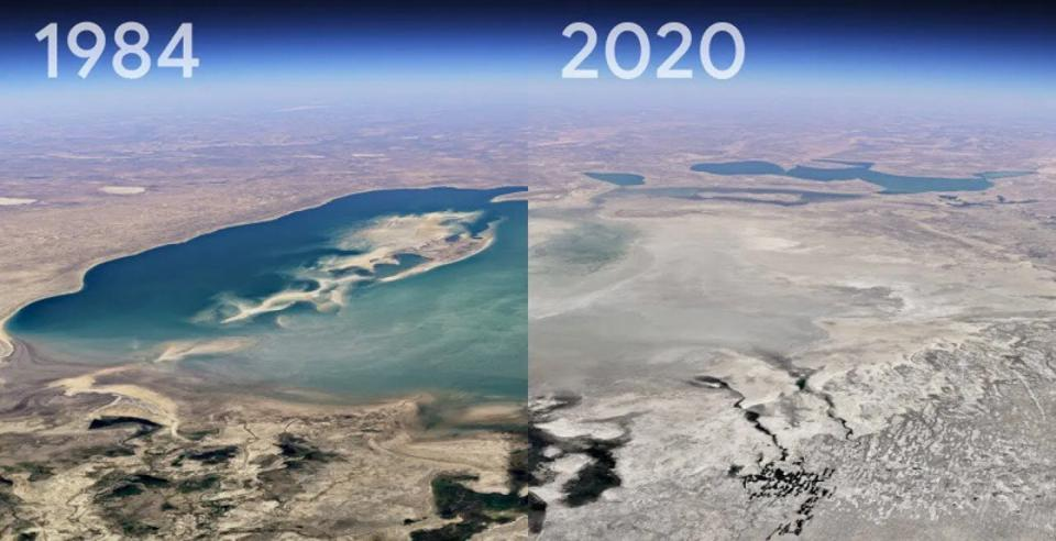 Google Earth's timelapse feature shows shocking snippets of how the Earth has changed in last four decades