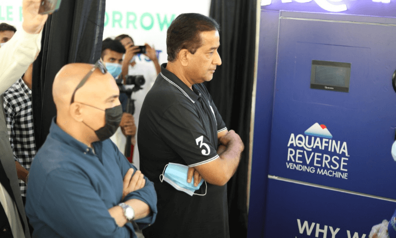 First reverse vending machine for plastics installed in Islamabad