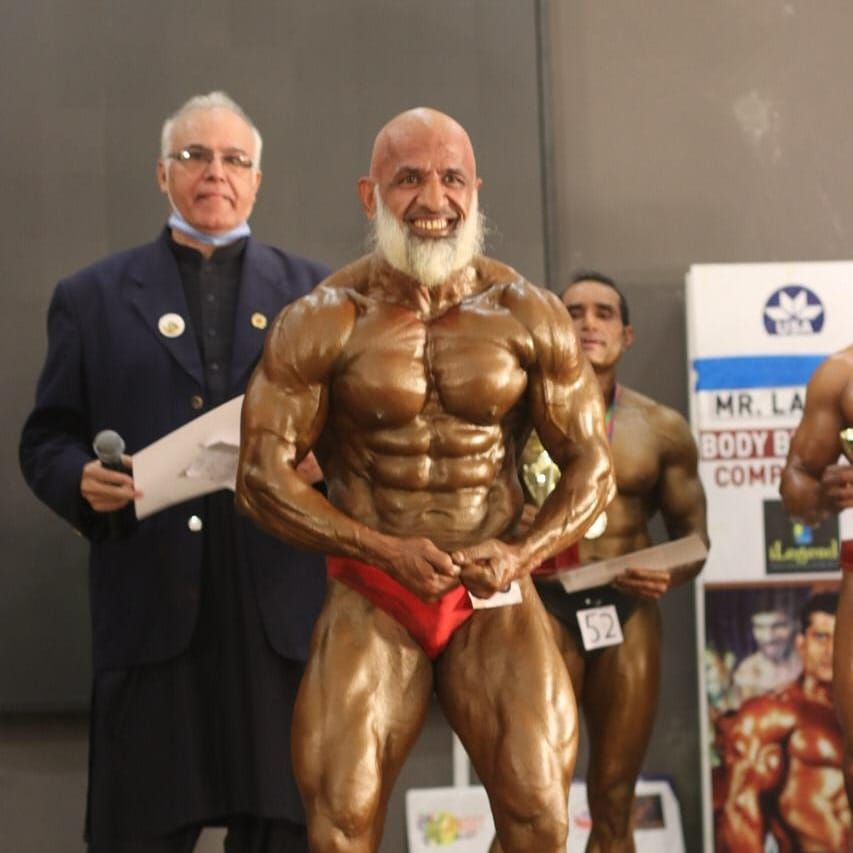Giving youngsters a run for their money:  60 year old wins Mr. Pakistan bodybuilding competition