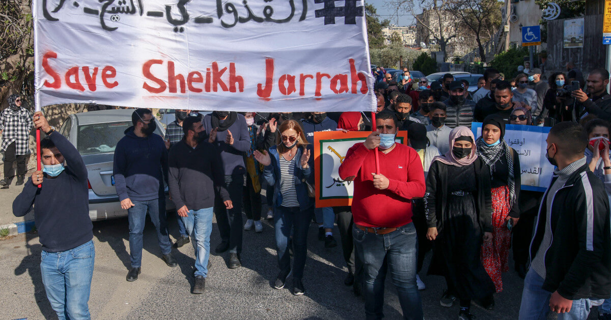 Israeli forces block visitors and supporters of Palestinians to Sheikh Jarrah
