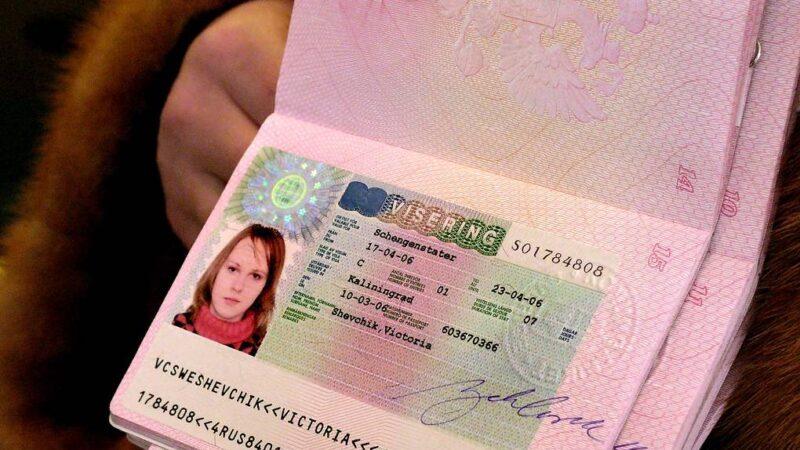Schengen visa stickers