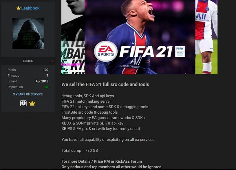 Hackers steal 780 GB of data from gaming giant EA, including FIFA 21 source code