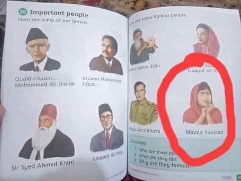 Punjab text board confiscates grade 7 textbook copies for printing Malala's picture