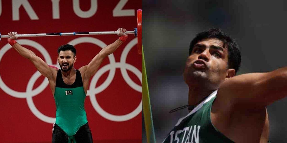 Punjab govt announces Rs 1M rewards for olympian Arshad Nadeem & Talha Talib