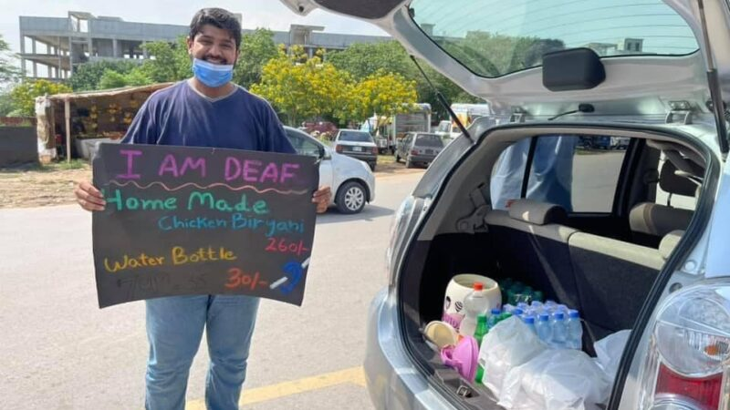 Talha Khan sells homemade Briyani